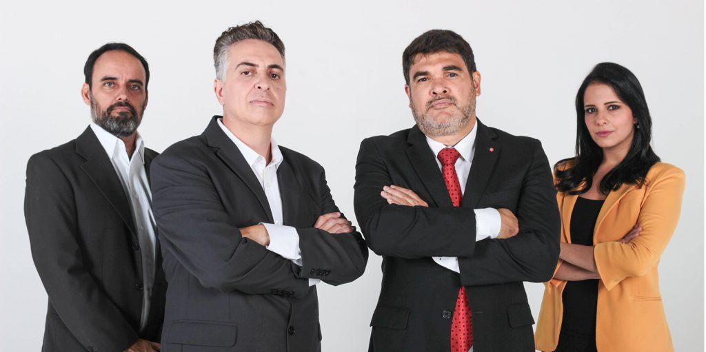 Álvaro Damião e a equipe do seu programa Alterosa Agora
